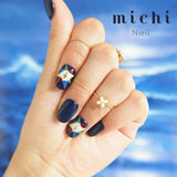Navy Blue with Cross Nail