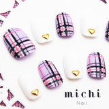 Pastel Purple Plaid Nail