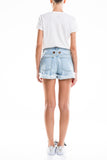 0020 CAPRI SHORT 100% Cotone wash destroyed con anelli vela col. Gold