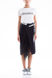 0028 SAILY  Panel Skirt Black 100% Cotone