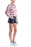 0060 CAPRI SHORT 100% Cotone wash destroyed con anelli vela col. Gold