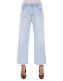 RACHELE Pantalone in denim dai volumi ampi  Denim Bleaced