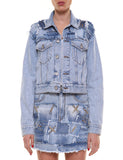 PAVIA Jacket Patch 26-2188  denim destroyed effetto vintage