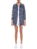 JACKET VICENZA 27-2080  denim destroyed effetto vintage