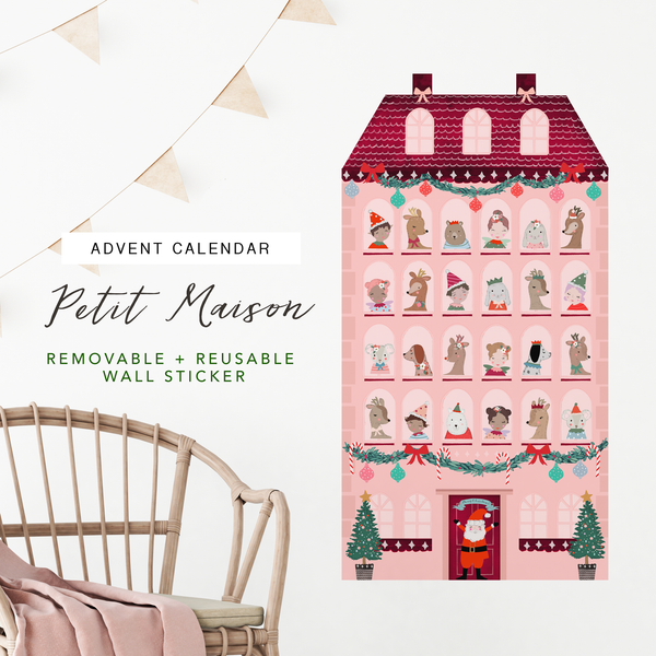 Christmas Edition Petit Maison / Advent Calendar - Removable Wall Decal