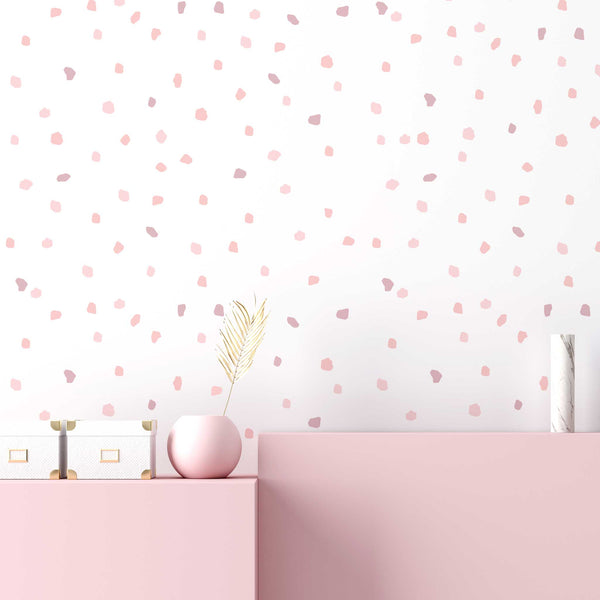 CONFETTI WALL DECAL / MARSHMALLOW