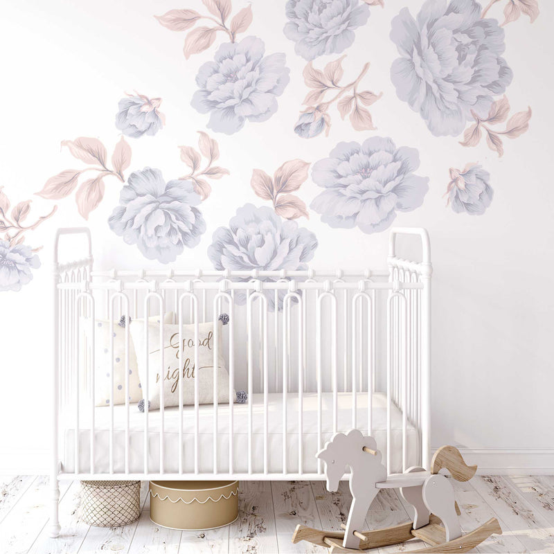 PEONY WALL DECAL / TWILIGHT