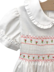 Handmade smock flowers dress
