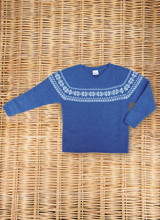 Jacquard Wool Sweater