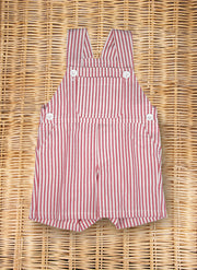 Stripe Overall Red