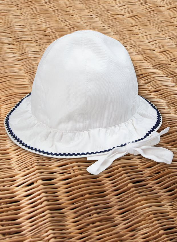 White and Blue Hat