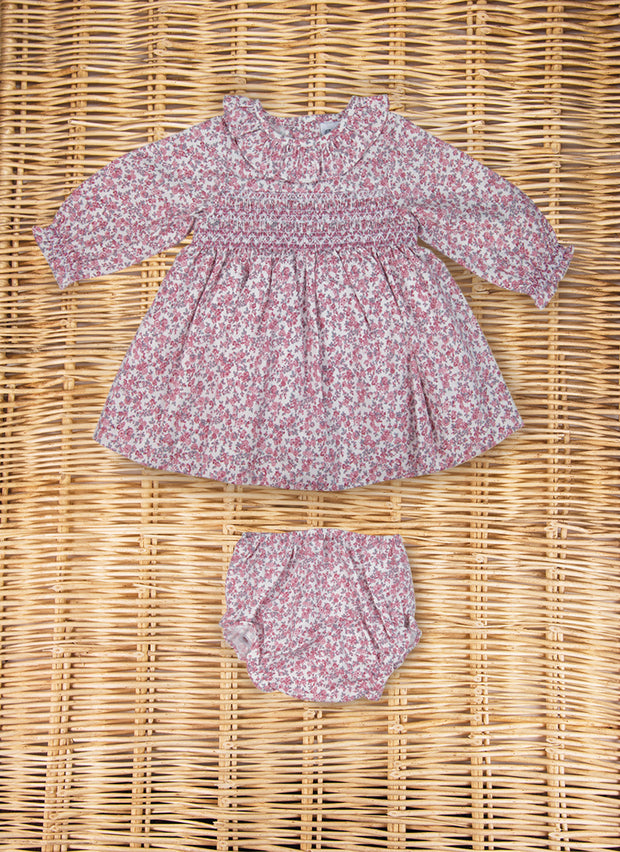 Smock Two Piece Flower Set