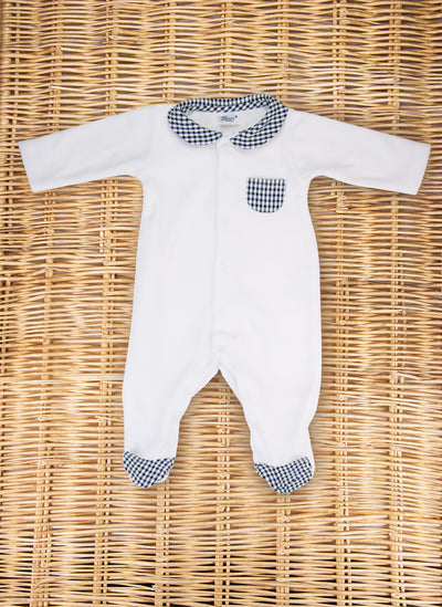 Chenille Check Sleepsuit