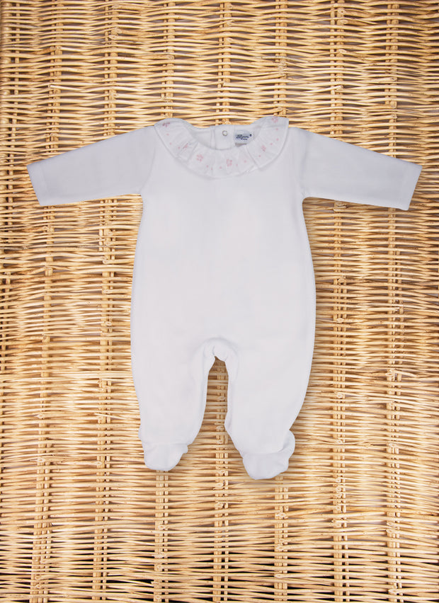 Chenille Sleepsuit Embroidered