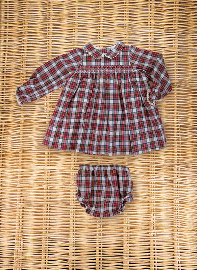 Smock Two Piece Tartan Set