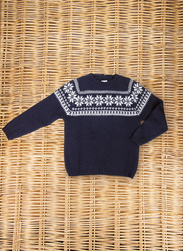 Jacquard  Pure Wool Sweater