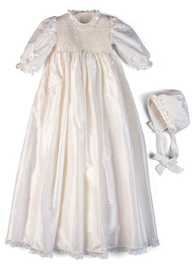 Christening Robe - 100% Silk - Baroni Firenze - 1