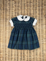 Hand Smock Tartan Dress