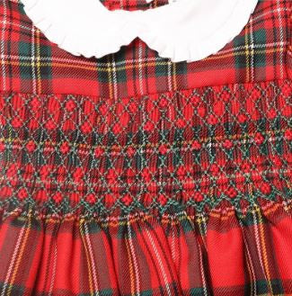 Hand embroidered tartan wool dress - Baroni Firenze - 2