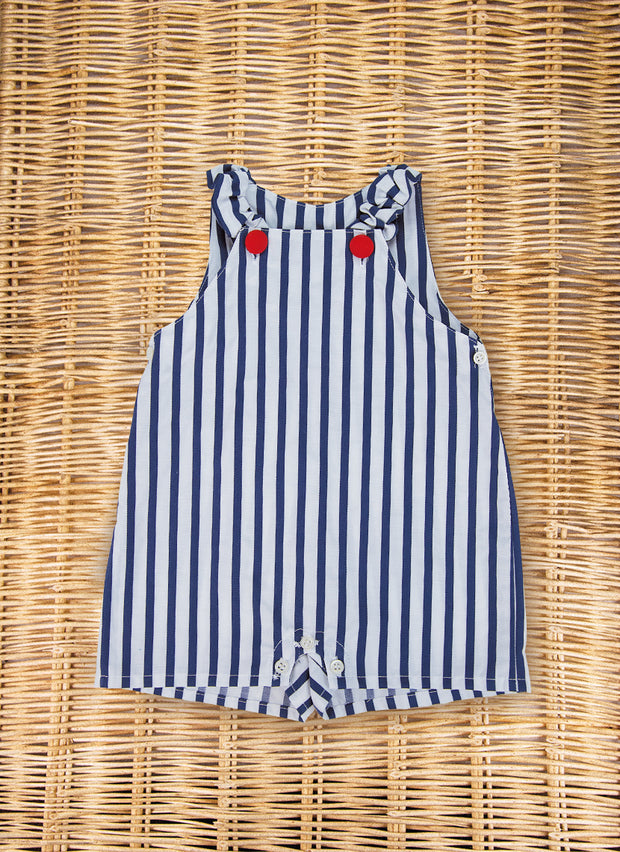 Navy Stripe Overall