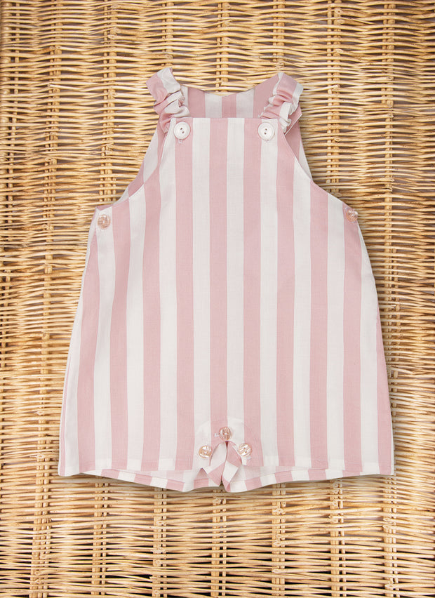 Pink Stripe Overall