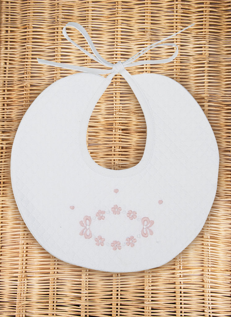 Bows & Flower Bib