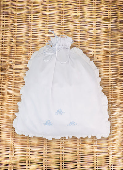 Baby Bag with light blue embroidery
