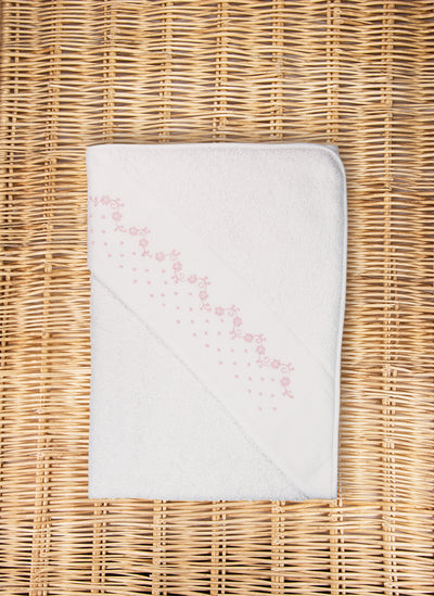 Flowers & Pois Hooded Towel
