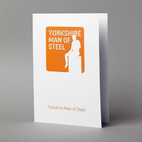 Yorkshire Man of Steel Greetings Card