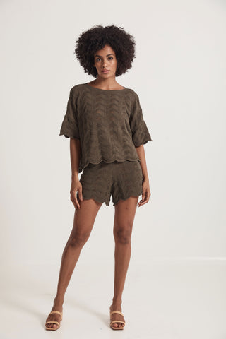 Daintree Knitted Short -  Green