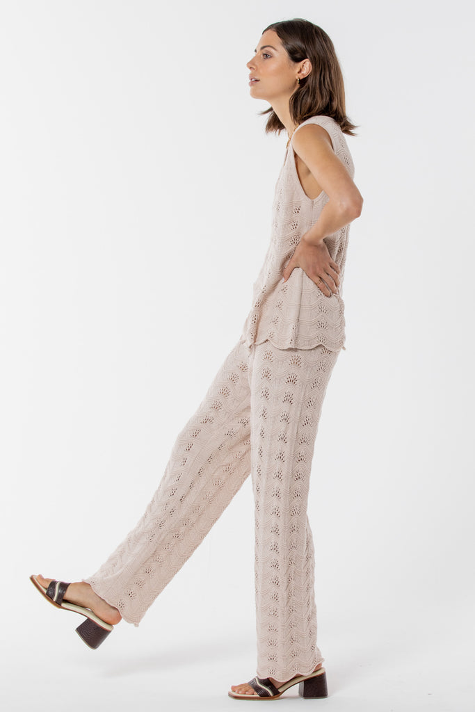 Avalon Knitted Pant -  Blush