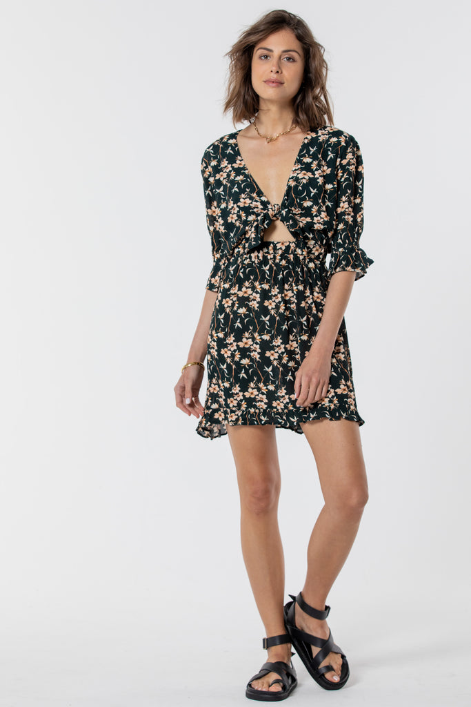 Esperance Mini Tie Dress