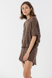 Hayman Knitted Tee  -  Coffee