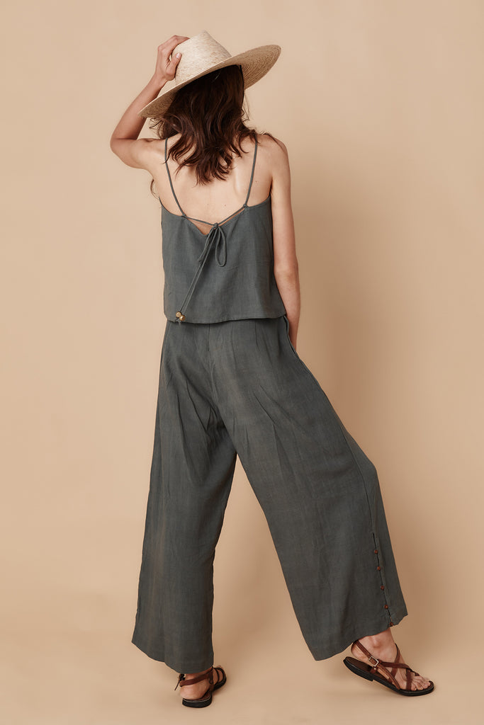 OLIVINE HIGH WAISTED PANT - RAINFOREST