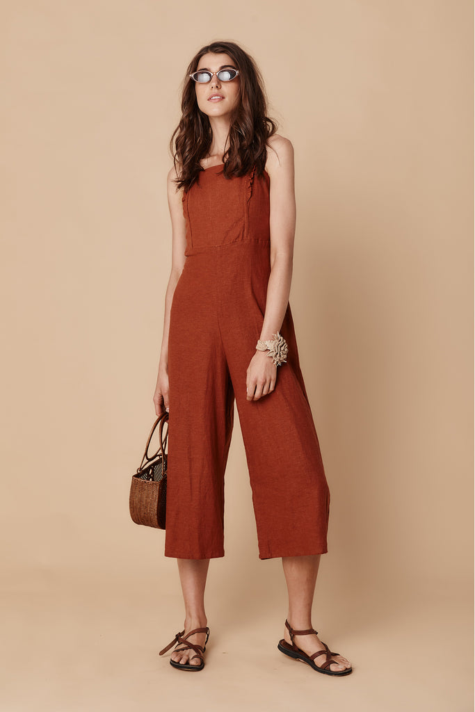 PENINSULA PANTSUIT - DESERT RED