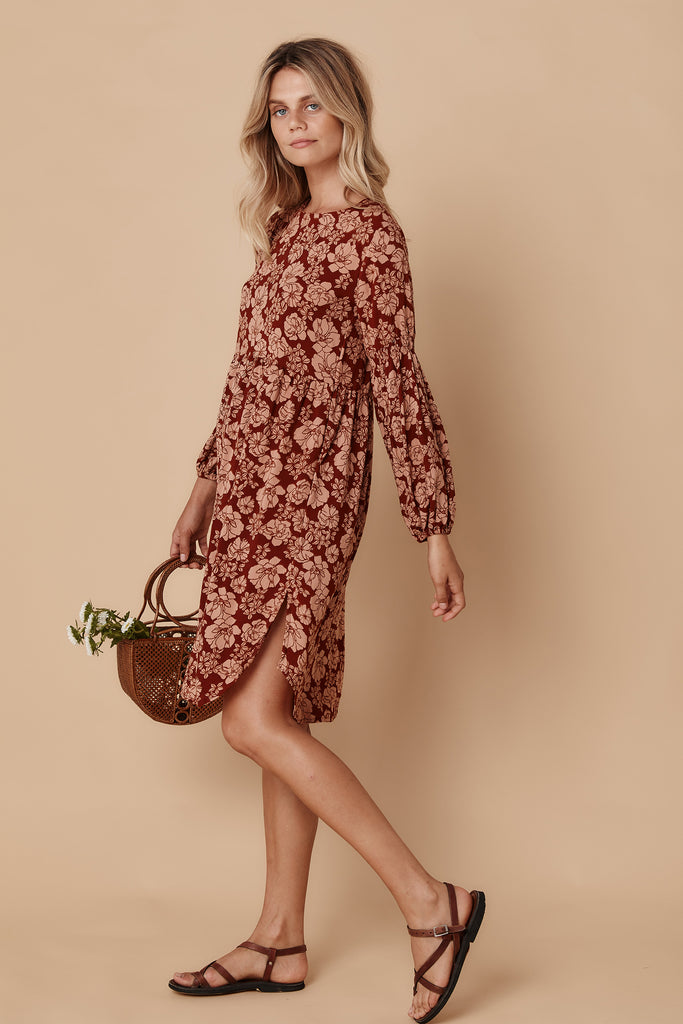XANTHE SMOCK DRESS - DESERT FLOWER