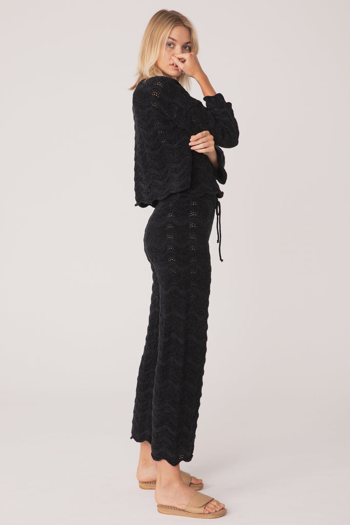 Belongil Knit Pant - Chenille Black
