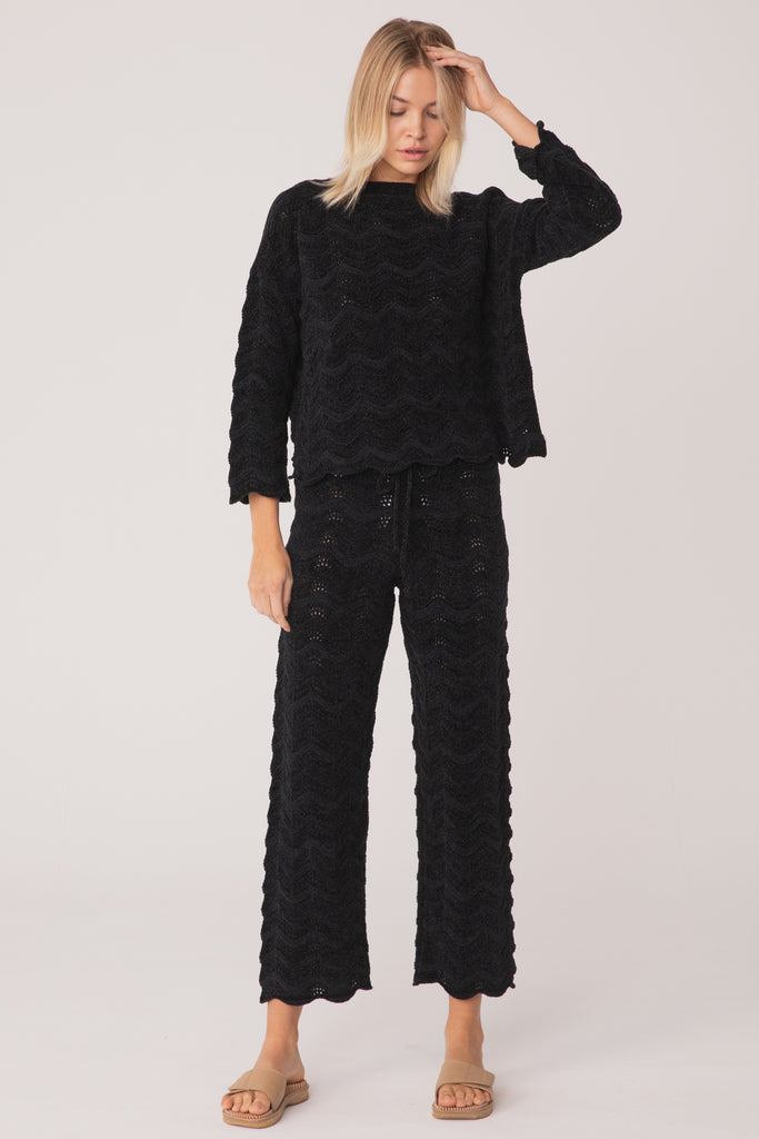 Belongil Knit Jumper - Chenille Black