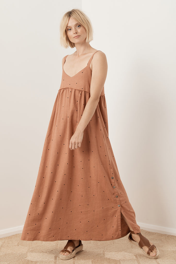 Sabrina Dress - Almond Rose Polka