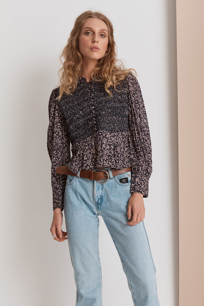Shangri-La Blouse | Midnight Floral