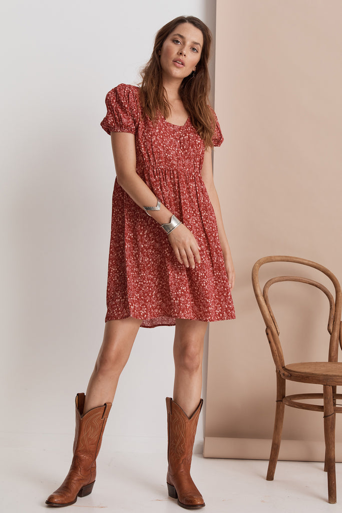 Shangri-La Mini Dress | Ruby Floral