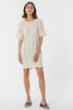 Scarborough Knitted Tee Dress - Creme