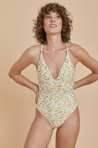 Milos Balconette Top - Golden Floral