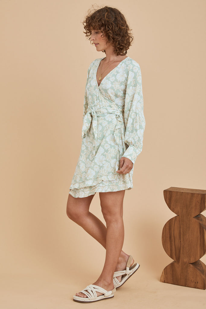 XANTHE MINI DRESS - MINT