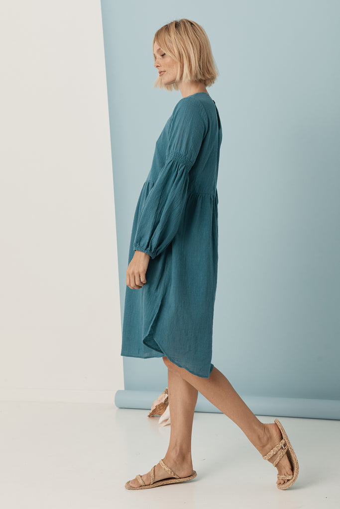 Sovereign Smock Dress - Teal