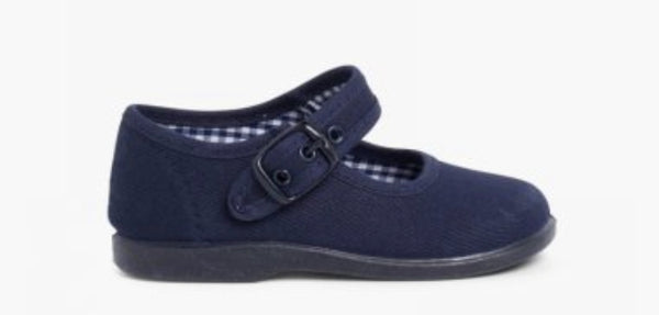 NAVY CANVAS MARY JANE SHOE