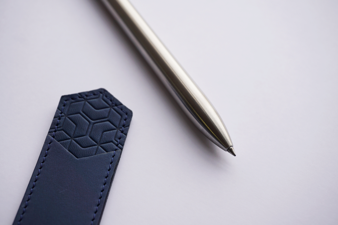 Ajoto-PenPouch-Leather-Pen-Pouch-Geometric-Pattern-Ajoto-AJOTO-Components-Spring-Twist-LifetmeGarantee-Precision-Machining-Manchester-Aluminium-Brass-StainlessSteel-Aviation-Automtoive-PrecisionProcess-Machestter-MakeYourMark