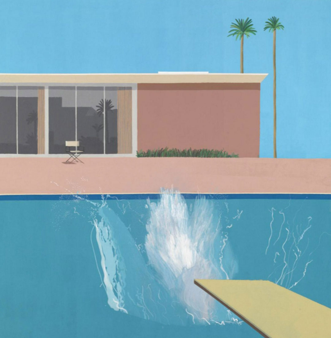 A bigger splash painting by David Hockney