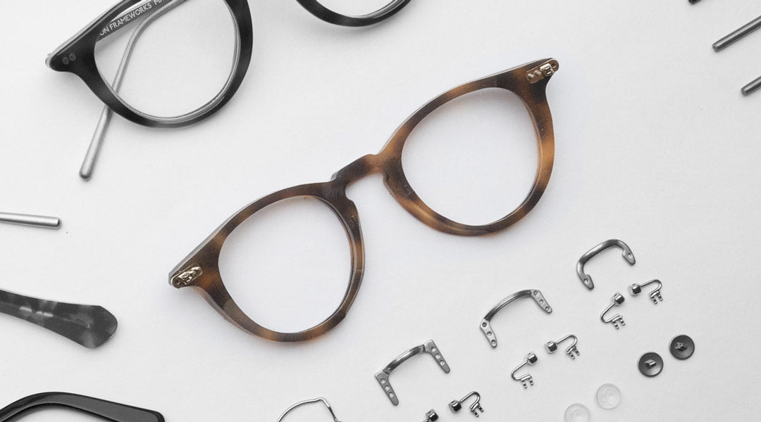 A tortoise acetate spectacle frame front