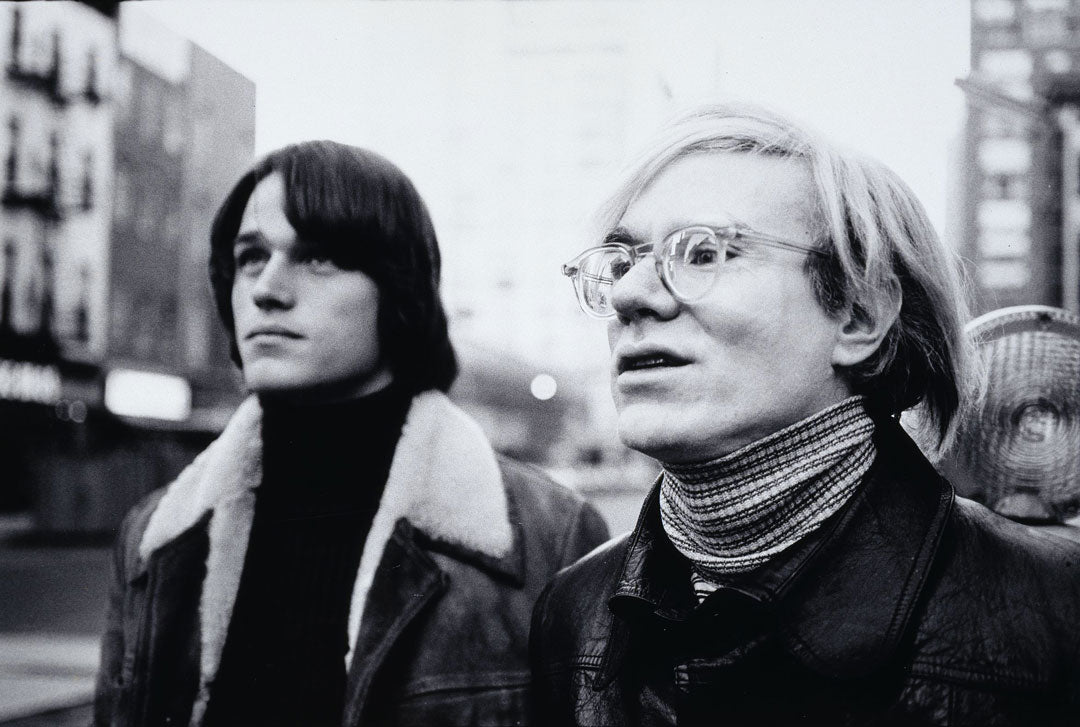 Andy Warhol and Jed Johnson together
